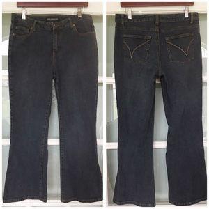 PETITE SOPHISTICATE boot cut denim mom jeans 10 P